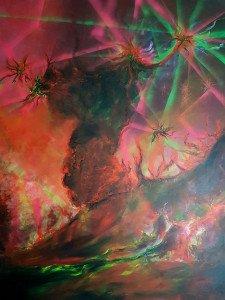225-Hurlements de la terre-acrylique sur toile-146x114cm-2017