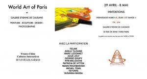 Exposition Susanna Massa du 28 avril au 8 mai 2019